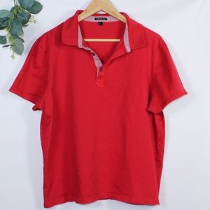 Men Theory Red Polo Shirt
